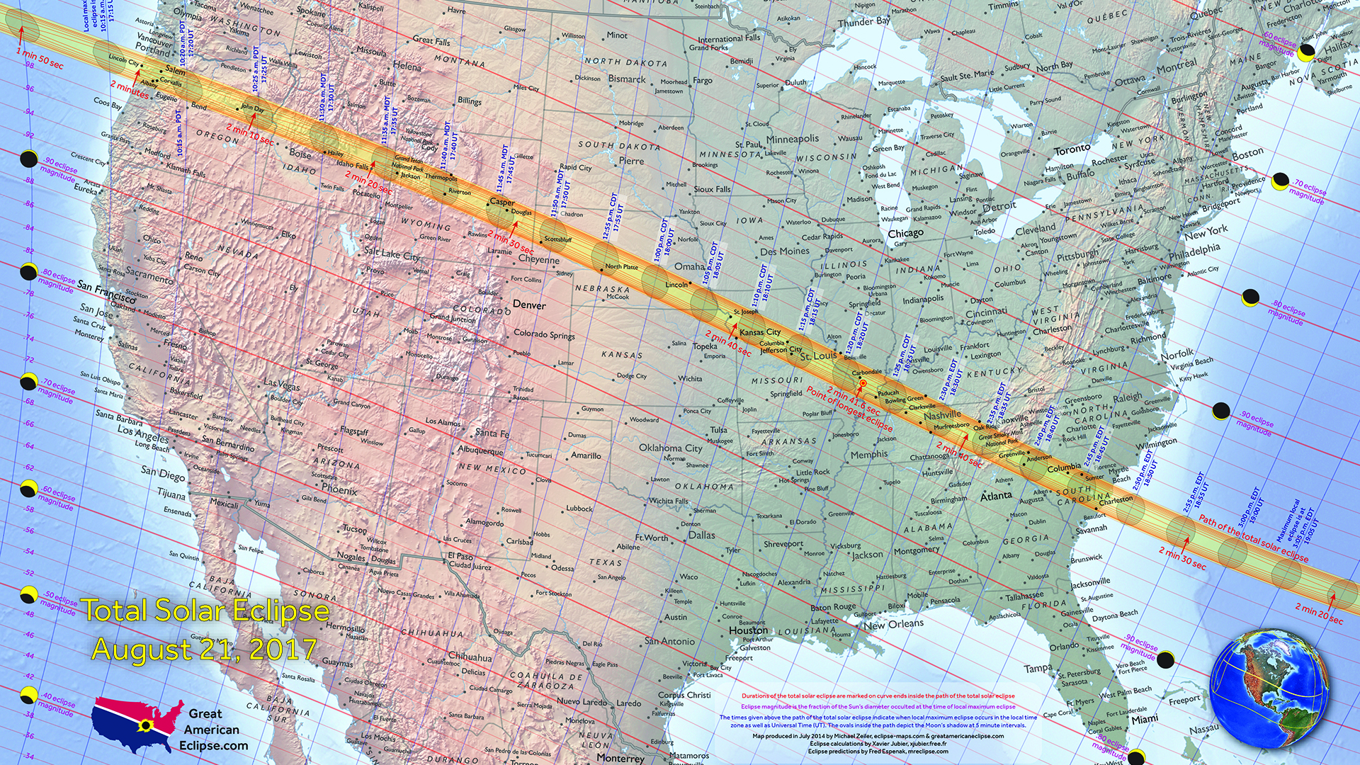 Desktop Backgrounds Total Solar Eclipse Of Aug - Us map screensaver
