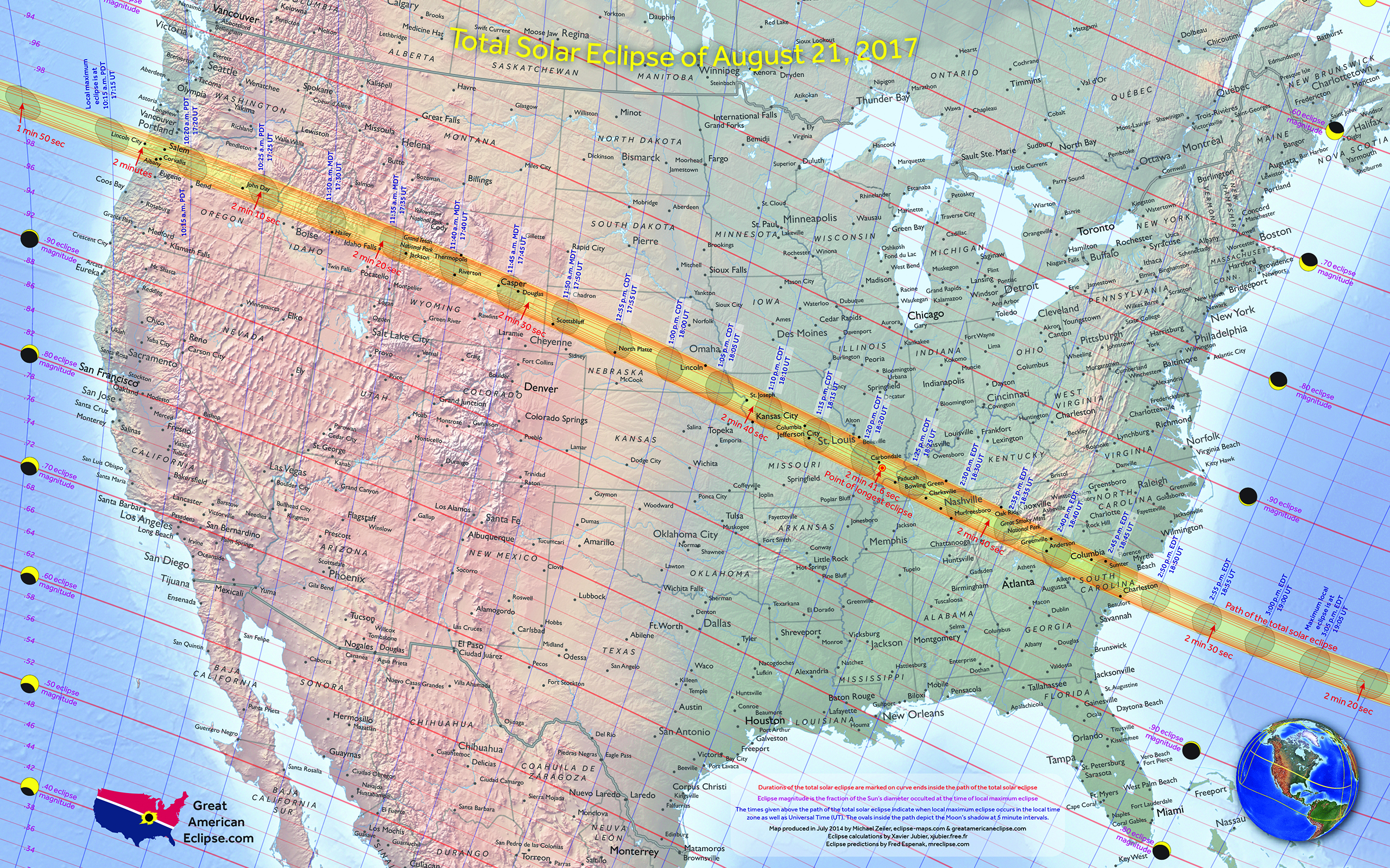 Michigan Will See A Near Total Solar Eclipse On August - Us total eclipse 2017 map